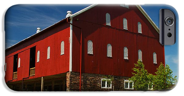Painter Photo Photographs iPhone Cases - Virginia Red Barn iPhone Case by Guy Shultz