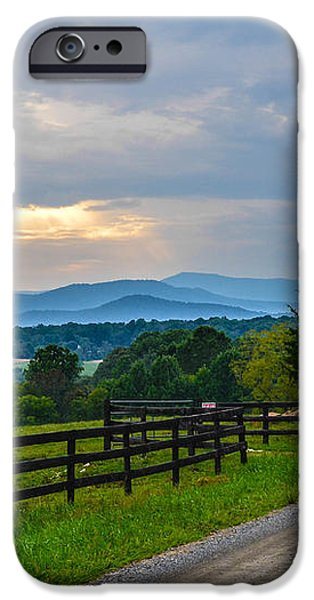 Virginia Road at Sunset iPhone Case by Alex Zorychta