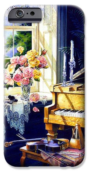Piano iPhone Cases - Virginia Waltz iPhone Case by Hanne Lore Koehler