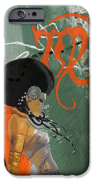 Virgo iPhone Cases - Virgo - B iPhone Case by Corporate Art Task Force