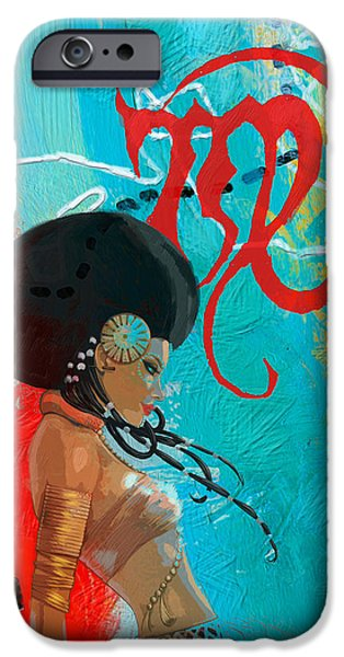 Virgo iPhone Cases - Virgo iPhone Case by Corporate Art Task Force