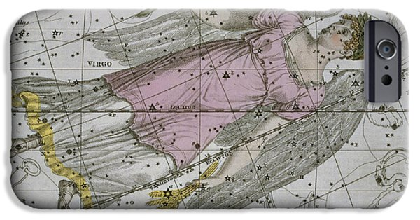 Constellations iPhone Cases - Virgo from A Celestial Atlas iPhone Case by A Jamieson