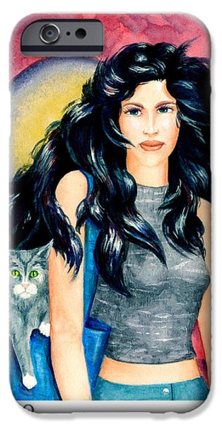 Signs Of The Zodiac Paintings iPhone Cases - Virgo iPhone Case by Michael Baum