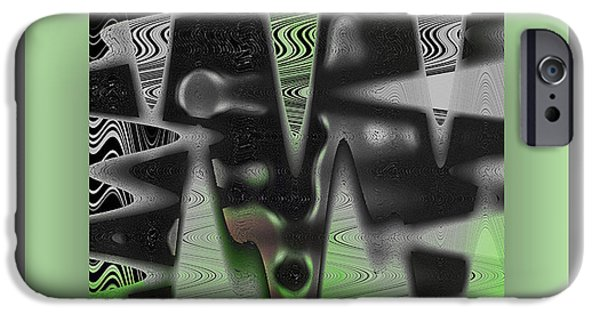 Virtual iPhone Cases - Virtual Gray iPhone Case by Mihaela Stancu