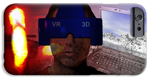 Virtual Photographs iPhone Cases - Virtual Reality Therapy iPhone Case by Carol and Mike Werner