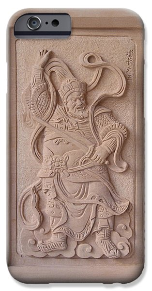 Ancient Reliefs iPhone Cases - Virudhaka iPhone Case by Terrell Kaucher