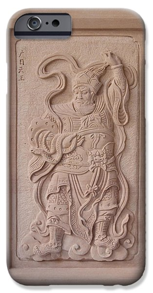 Ancient Reliefs iPhone Cases - Virupaksa iPhone Case by Terrell Kaucher