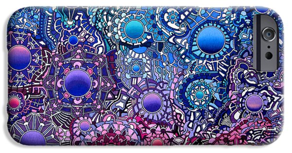 Opposing Forces iPhone Cases - Viscosity iPhone Case by Devin  Cogger