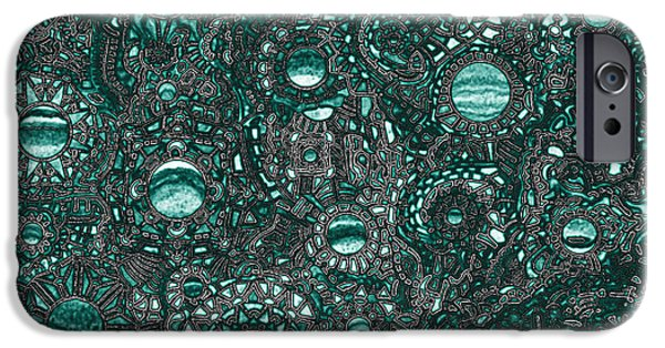 Opposing Forces iPhone Cases - Viscosity variation 16 iPhone Case by Devin  Cogger