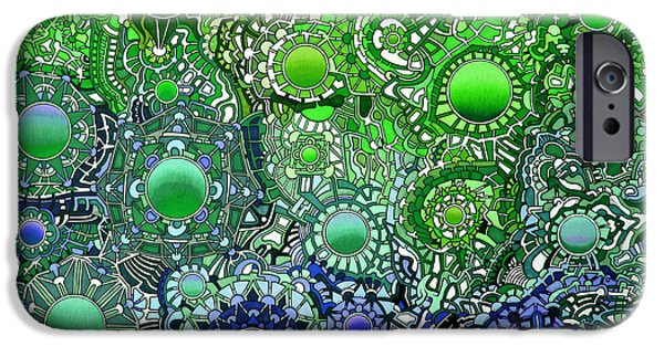Opposing Forces iPhone Cases - Viscosity variation 4 iPhone Case by Devin  Cogger