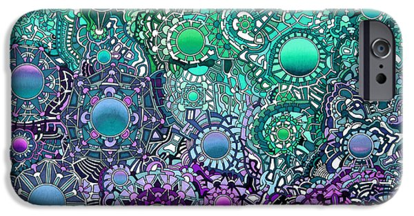 Opposing Forces iPhone Cases - Viscosity variation 5 iPhone Case by Devin  Cogger