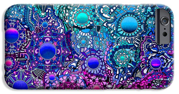 Opposing Forces iPhone Cases - Viscosity variation 8 iPhone Case by Devin  Cogger