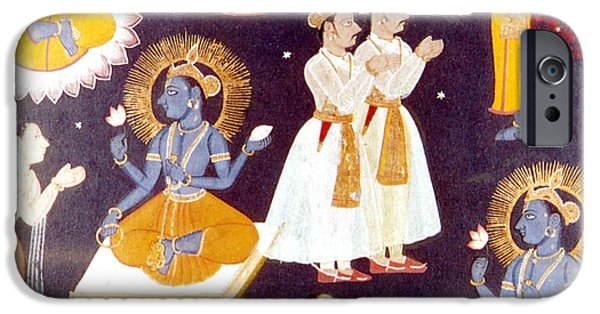 Manifestations iPhone Cases - Vishnu, Hindu Creator God iPhone Case by Photo Researchers