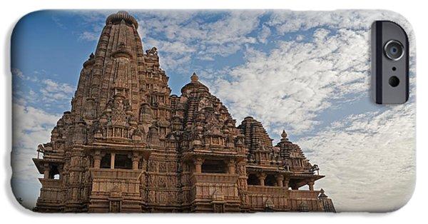 Hindu Goddess iPhone Cases - Vishvanatha Temple Khajuraho India UNESCO world heritage site iPhone Case by Rudra Narayan  Mitra