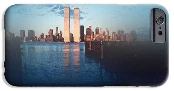 The Twin Towers Of The World Trade Center iPhone Cases - Vision of a Great City iPhone Case by Kellice Swaggerty