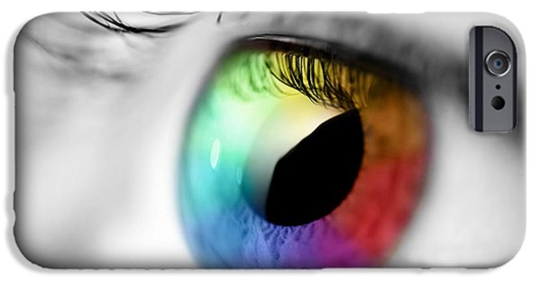 Vision iPhone Cases - Vision of Color iPhone Case by Gianfranco Weiss