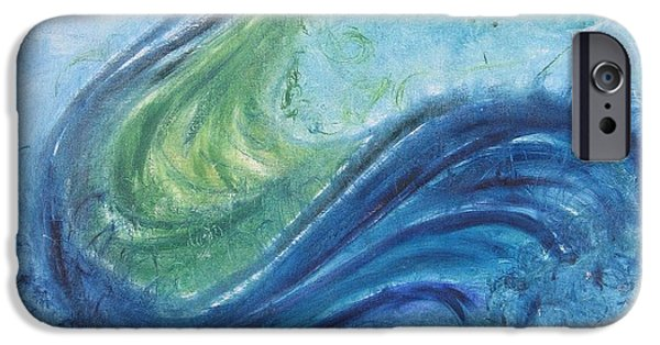 Serpent iPhone Cases - Peacock Vision in the Mist iPhone Case by Diane Pape