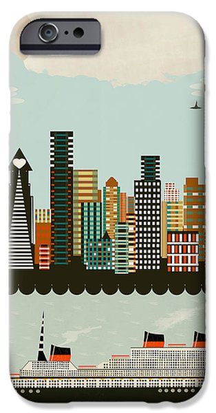 City. Boston iPhone Cases - Visit Boston iPhone Case by Bri Buckley