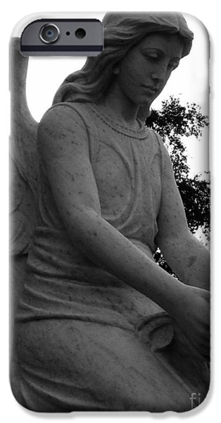 Usa Sculptures iPhone Cases - Visiting Angel iPhone Case by Nathan Little