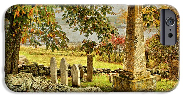 Headstones iPhone Cases - Visiting History iPhone Case by Nikolyn McDonald