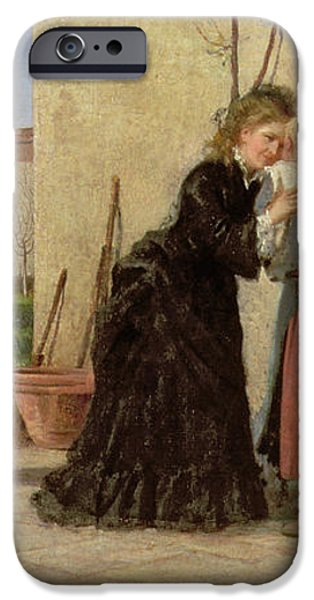 Visiting the Wet Nurse iPhone Case by Silvestro Lega