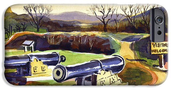 Park Scene Mixed Media iPhone Cases - Visitors Welcome at Fort Davidson iPhone Case by Kip DeVore