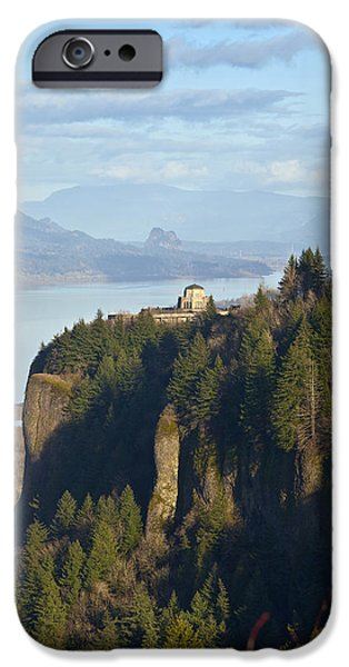 States iPhone Cases - Vista House landmark in northern Oregon. iPhone Case by Gino Rigucci