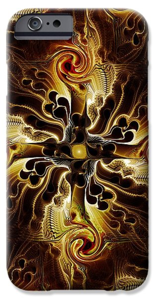 Atonement iPhone Cases - Vital Cross iPhone Case by Anastasiya Malakhova