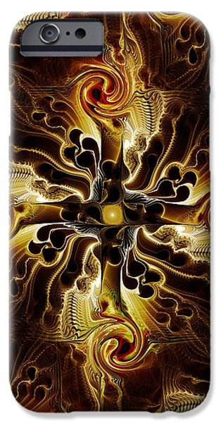 Atonement iPhone Cases - Vital Cross iPhone Case by Anastasiya Malakhova