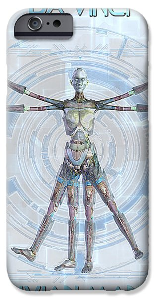 Vitruvian man 3000 iPhone Case by Frederico Borges