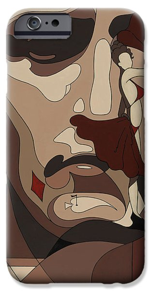 Chip iPhone Cases - Las Vegas painting with hidden pictures iPhone Case by Konni Jensen