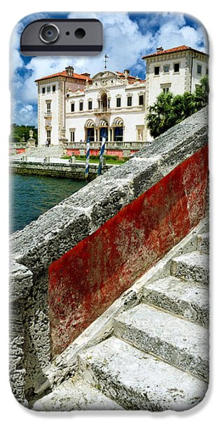 Vizcaya Museum and Gardens Biscayne Bay Miami FL iPhone Case by Amy Cicconi