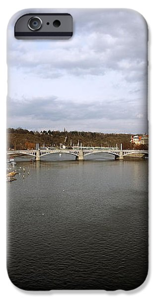 Vltava River View iPhone Case by John Rizzuto