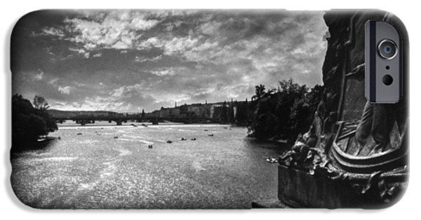 Charles River iPhone Cases - Vltava iPhone Case by Taylan Soyturk