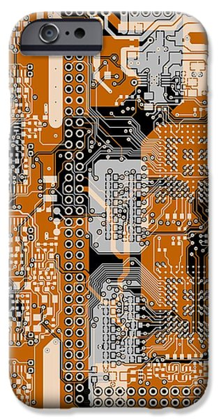 Circuit iPhone Cases - Vo96 Circuit 1 iPhone Case by Paul Vo