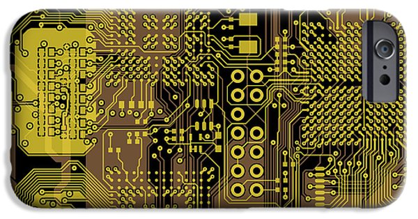 Circuit iPhone Cases - Vo96 Circuit 5 iPhone Case by Paul Vo