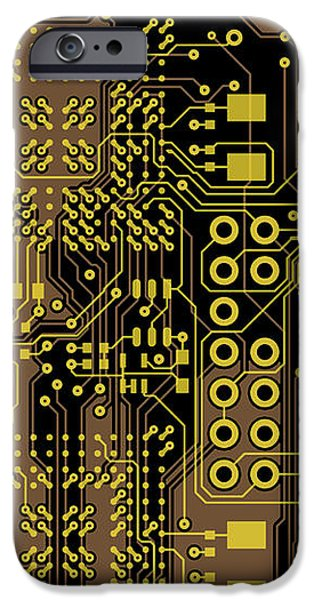 Vo96 Circuit 5 iPhone Case by Paul Vo
