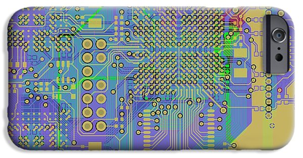 Circuit iPhone Cases - Vo96 Circuit 7 iPhone Case by Paul Vo