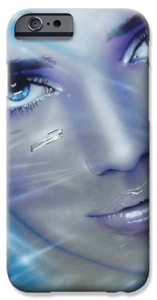 Hand Paint Brushed iPhone Cases - Vogue iPhone Case by Christian Chapman Art