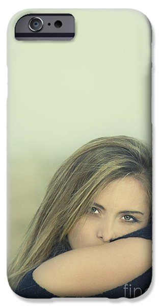 Seductive Photographs iPhone Cases - Voice Of My Silence iPhone Case by Evelina Kremsdorf