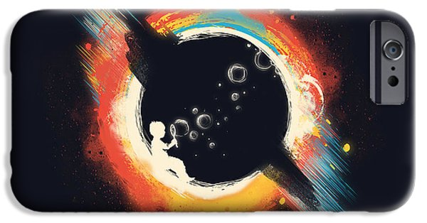 Child Digital iPhone Cases - Void iPhone Case by Budi Kwan