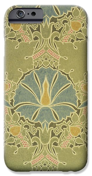 Fabric Tapestries - Textiles iPhone Cases - Voisey the Saladin iPhone Case by William Morris
