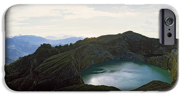 Mountain iPhone Cases - Volcanic Lake On A Mountain, Mt iPhone Case by Panoramic Images