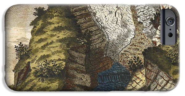 Mounds iPhone Cases - Volcanic Mound, Germany, 1776 iPhone Case by British Library
