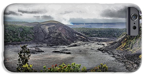 Grey Clouds Photographs iPhone Cases - Volcanic Valley iPhone Case by Cheryl Young