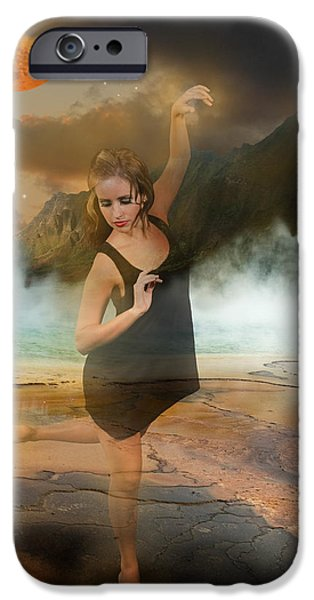 Volcano Goddess iPhone Case by Kim Cyprian