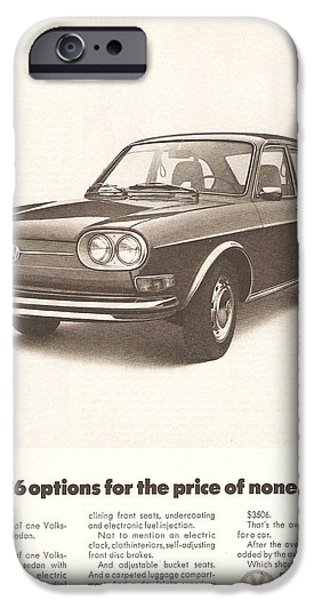 Volks iPhone Cases - Volkswagen 411 iPhone Case by Nomad Art And  Design