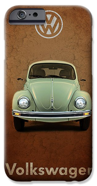 Volkswagen iPhone Cases - Volkswagen Beetle iPhone Case by Mark Rogan
