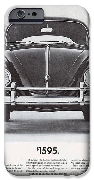 Volks iPhone Cases - Volkswagen Beetle iPhone Case by Nomad Art And  Design