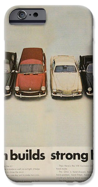 Volkswagen Body Facts iPhone Case by Nomad Art And  Design